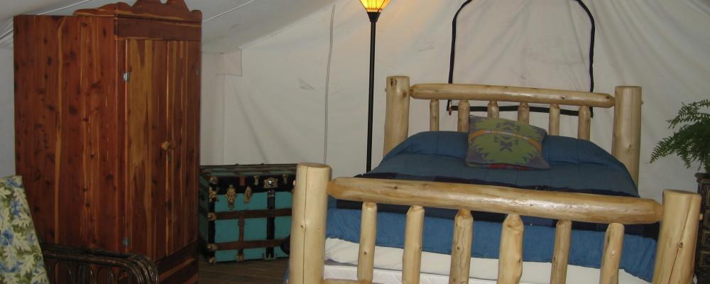 Inside Guide Tent
